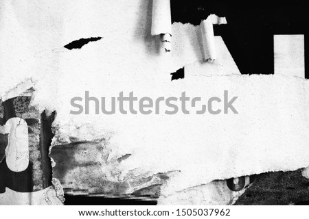 Old ripped torn posters textures backgrounds grunge creased crumpled paper vintage collage placards empty space text backdrop surface
