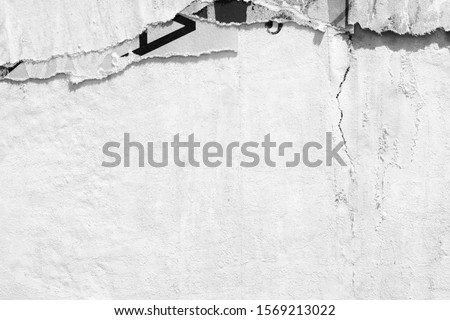 Old ripped torn posters textures backgrounds grunge creased crumpled paper vintage collage placards empty space text Foto stock ©
