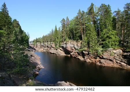 Old river Vuoksa in Imatra, Finland