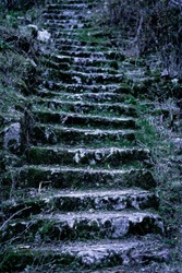 old rocky stairs