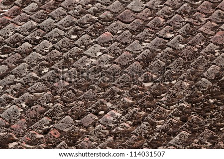 old roof tiles pattern