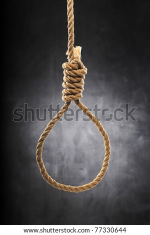 Old rope with hangman's noose.