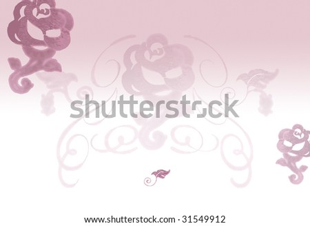 stock photo Oldrose floral background suitable for wedding invitation