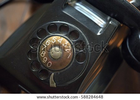 Old Rotary Dial Telephone Exposed As Decoration Ez Canvas