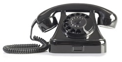 Old Rotary Phone Isolated on White Background