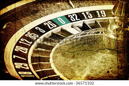 Old Roulette wheel (casino series)