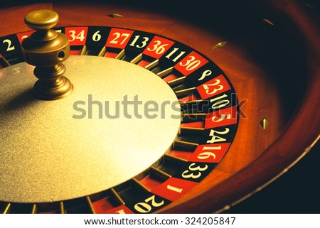 old roulette wheel. casino...
