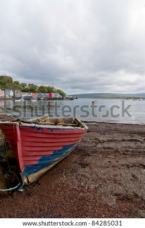 Old rowing boat at Tobermory on the isle of Mull