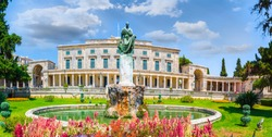 Old Royal Palace St. Michael and St. George in Corfu town, Greece