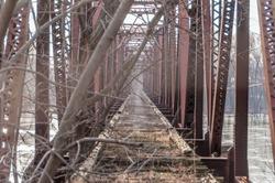 Old RR bridge, before it burned