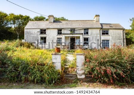 Photo of  Old ruin of a house overlooking the Atlantic ocean in West Cork Ireland