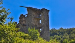 Old ruined abandoned building, tuscany italy