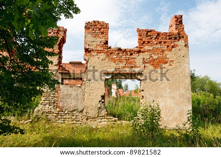 Old ruined house in Estonia