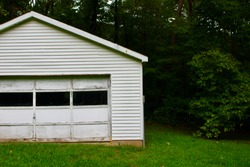 Old Run Down Shed by the Woods