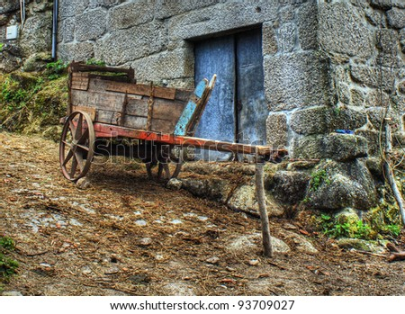 old rural cart in Fafe, North of Portugal