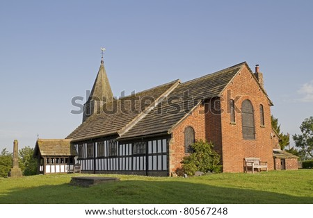 Old rural church in Cheshire England