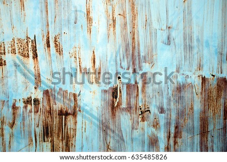 old Rust on steel blue background #635485826