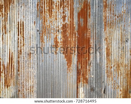 old rusted galvanized texture...