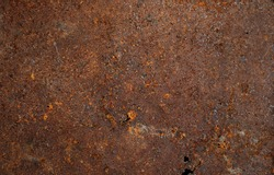 Old rusted steel tank rust surface