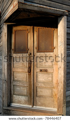 old rustic doorway at store front historic st. augustine, florida usa