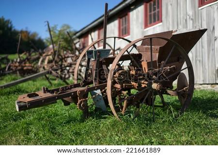 Old rustic farm equipment