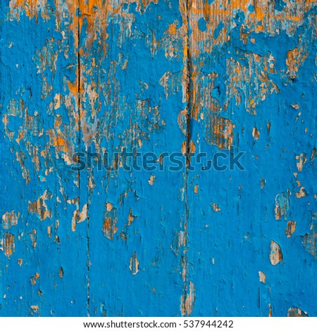 Old Rustic Painted Cracky Green Turquoise And Blue Wooden Texture Or Background 537944242