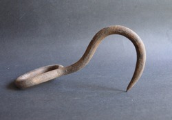 Old Rusty Cast Iron Meat Hook Hay Hook