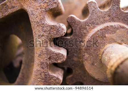 Old Rusty Cogs for heavy industry
