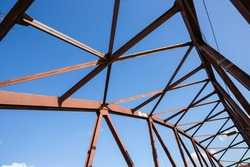 Old rusty construction elements  truss