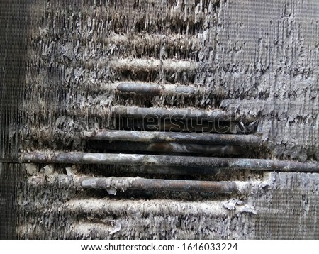 old rusty cooling tower cooling radiator
