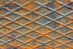 Old rusty  corroded metal as abstract background texture