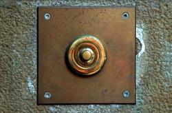 Old rusty doorbell