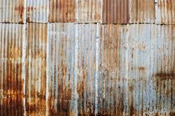 Old rusty galvanized.