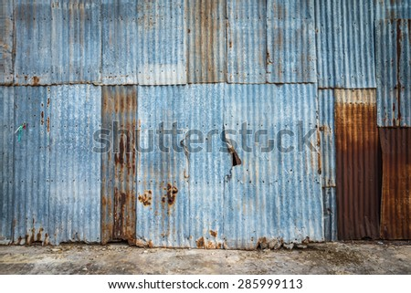 Old rusty galvanized iron plate texture background