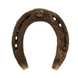 Old rusty horse Shoe insulated horseshoe