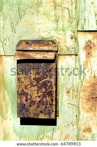 old rusty mailbox