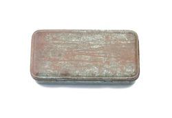 Old rusty metal box