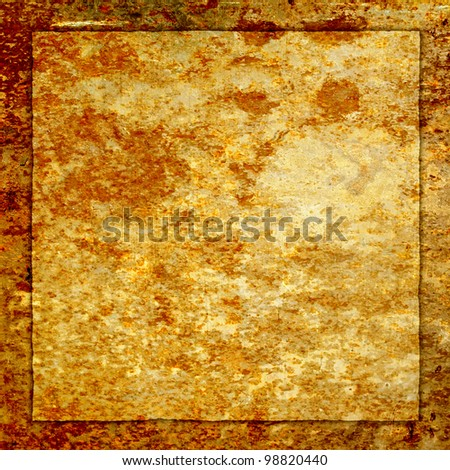Old rusty metal plate. Page to design photo books