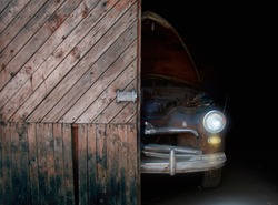 Old rusty retro cars .Classic car background.Classic old rusty retro cars, great design for any purposes