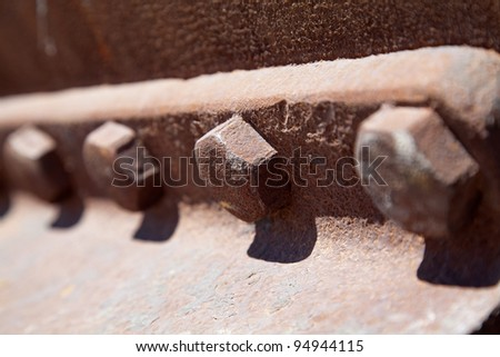 Old rusty screw