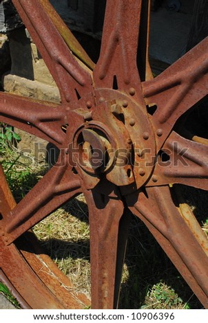 old rusty wheel