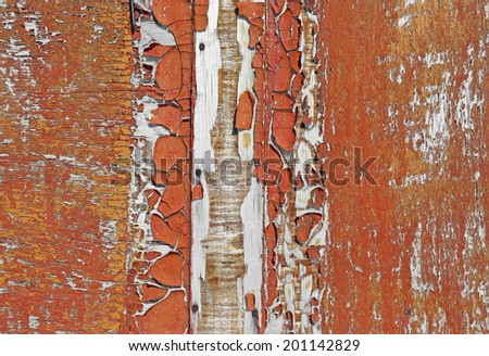 Old rusty wooden wall