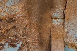 Old rusty zinc plate surface  galvanized, corrugated iron siding vintage texture background