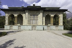 Old Saadabad Palace (Sabz Palace) built by the Pahlavi dynasty of Iran in the Shemiran area of Tehran as official residence of the President of Iran. Tehran, Iran.