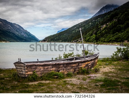 Old Sailboat - I came across this old sailboat next to Bennett Lake in the Canadian Yukon Territory. #732584326