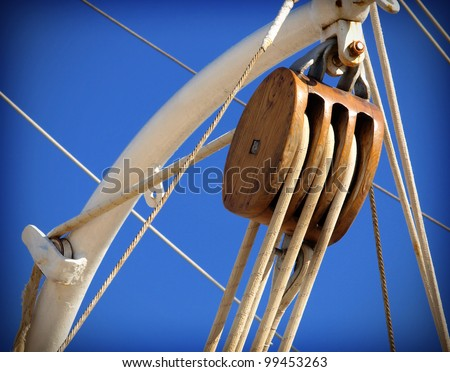 old sailing boat detail