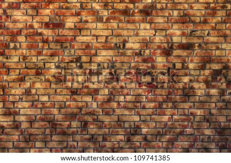 old sandy brick wall