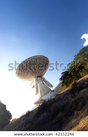 old satellite transmission earth-station
