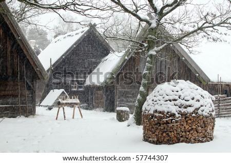 Old scandinavian house - stock photo