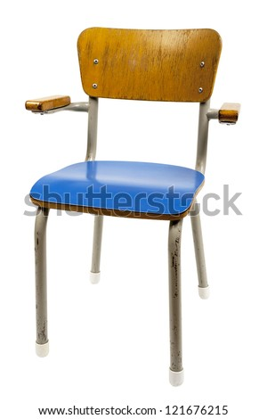 old school chair isolated on white